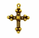 Antique Gold Byzantine Cross
