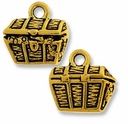 Antique Gold Treasure Chest Charm