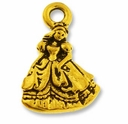 Antique Gold Princess Charm