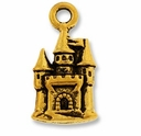 Antique Gold Castle Charm