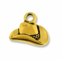 Antique Gold Cowboy Hat Charm