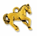 Antique Gold Horse Charm