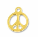 Antique Gold 5/8� Peace Charm