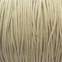 Beige 1.5mm Waxed Cotton Craft Cord (1YD)