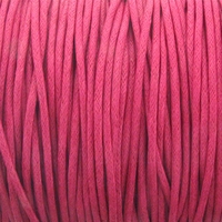 Hot Pink 2mm Waxed Cotton Craft Cord (1YD)