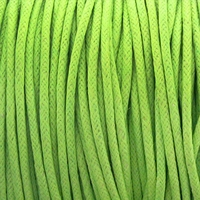 Lime Green 2mm Waxed Cotton Craft Cord (1YD)
