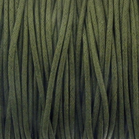 Olive Green 2mm Waxed Cotton Craft Cord (1YD)