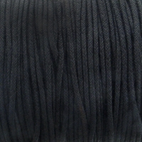 Black 1.5mm Waxed Cotton Craft Cord (1YD)