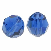 Majestic Crystal® Sapphire 6mm Faceted Round Crystal Beads (24PK)