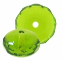 Gemstone Donut 9/6mm Peridot (12PK)
