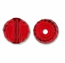 Majestic Crystal®  Ruby 8mm 96-Facet Round Crystal Beads (12PK)
