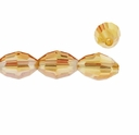 Majestic Crystal® Gold 6x8mm Faceted Oval Crystal Beads (12PK)