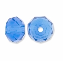 Majestic Crystal® Sapphire 4x6mm 32-Facet Crystal Beads (25PK)