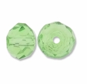 Majestic Crystal� Peridot 4x6mm 32-Facet Crystal  Beads (25PK)