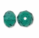 Majestic Crystal® Emerald 4x6mm 32-Facet Crystal  Beads (25PK)