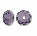 Majestic Crystal® Violet 4x6mm 32-Facet Crystal  Beads (25PK)