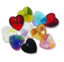 Majestic Crystal� Mixed 14mm Crystal Heart Pendants (10PK)
