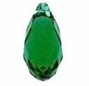 Majestic Crystal® Emerald 12x6mm Faceted Crystal Pendants (10PK)