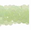 8mm Chrysoprase Round Glass Beads 16 Inch Strand