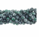 4mm Green Marble Round Glass Beads 16 Inch Strand