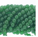 8mm Green Jade Round Glass Beads 16 inch Strand