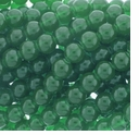 10mm Green Jade Round Glass Beads 16 inch Strand