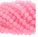 8mm Pink Quartz Round Glass Beads 16 inch Strand