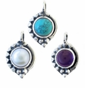 Sterling Silver Gemstone  Pendant Style 1175