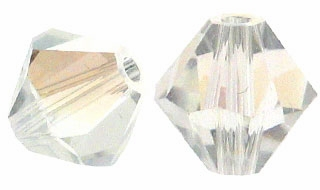 Crystal Moonlight 5328 4mm Swarovski Crystal XILION Bicones Beads (10PK)