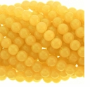 8mm Yellow Jade Round Glass Beads 16 inch Strand