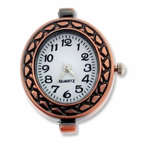 Antiqued Copper Decorative Oval  Watch face (1PC)