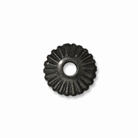 6mm Black Finish Crown Heishi Spacers (10PK)