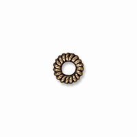 Brass Oxide Small Coiled Ring Spacer (10PK)