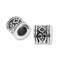 MIOVI� Silver Plated Decorative Tube LH Beads (1PC)