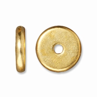 8mm Bright Gold Disk Heishi Spacers (10PK)