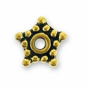 5mm Antique Gold Star Spacer Bead (10PK)