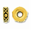 Antique Gold 10mm Lg. Hole Legend Spacer Bead