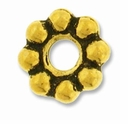 Antique Gold 8mm Lg. Hole Spacer