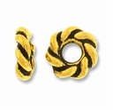 Antique Gold 7mm Twisted Lg. Hole Spacer