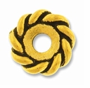 Anti. Gold 10mm Twisted Lg. Hole Spacer