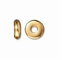 5mm Bright Gold Disk Heishi Spacers (10PK)
