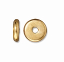 6mm Bright Gold Disk Heishi Spacers (10PK)