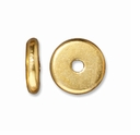 7mm Bright Gold Disk Heishi Spacers (10PK)