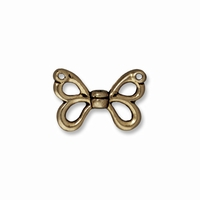 Brass Oxide Butterfly Wings Bead