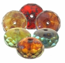Picasso Multi Color Gemstone Donut 11/7 mm (12PK)