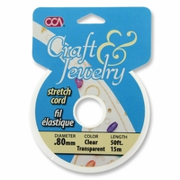 Craft and Jewelry Clear .80 Diameter 50ft Stretch Cord