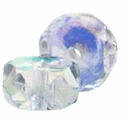 3 x 6mm Crystal AB Czech Fire Polished Rondelles(25PK)