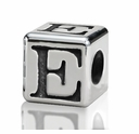 4.5mm Small Hole Alphabet Letter Bead Letter E
