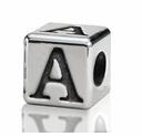4.5mm Small Hole Alphabet Letter Bead Letter A