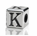 4.5mm Small Hole Alphabet Letter Bead Letter K